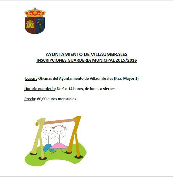 Inscripciones Guardería Municipal